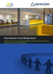 Gemeente Oud-Beijerland - Newcom - Research & Consultancy