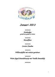 Januari 2013 - Cuisine Culinaire Limburg