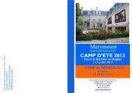 Download the Summer Camp Brochure 2013 - MARYMOUNT ...