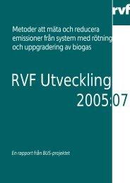 Metoder att mäta och reducera emissioner från ... - Avfall Sverige