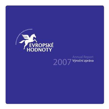 Výroční zpráva 2007 - Evropské hodnoty o.s.