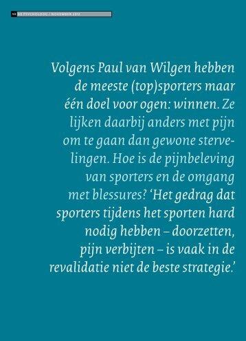 Volgens Paul van Wilgen hebben de meeste (top ... - chropiver