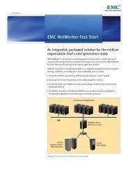 EMC NetWorker Fast Start Data Sheet