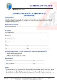 Aanvraagformulier inname openbaar domein - Gemeente Hamme