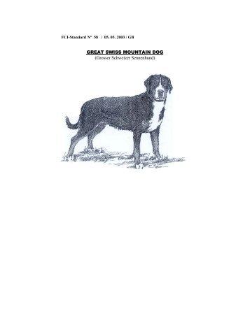 FCI Breed Standards - Swiss Run Swissys, Vermont
