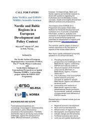 Nordic and Baltic Regions in a European Development and Policy ...
