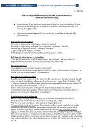 Råd och hjälp vid behandling med IVF, insemination och
