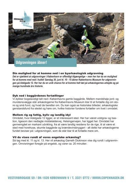 Udgravningen åbner! - Københavns Museum