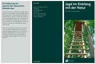 Jagd im Einklang mit der Natur - Bayerische Staatsforsten