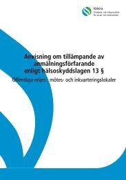 Anvisning om tillämpande av anmälningsförfarande enligt ... - Valvira.fi
