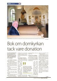 Bok om domkyrkan tack vare donation - Carlstads-Gillet