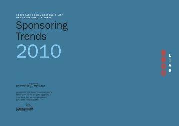 Studie Sponsoring Trends 2010 - BBDO Live
