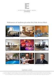 Konferensbroschyr Elite Park Avenue Hotel - Elite Hotels