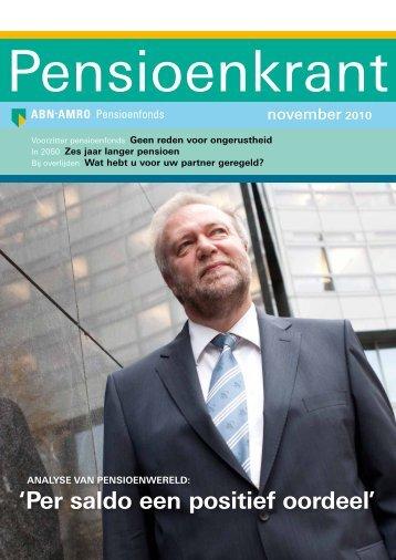 'per saldo een positief oordeel' - ABN AMRO Pensioenfonds