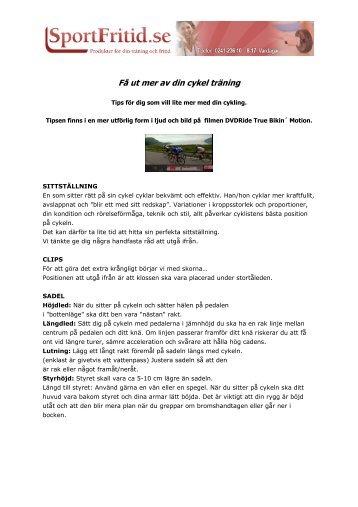 (Få ut mer av din cykel träning) - Sport & Fritid Stockholm