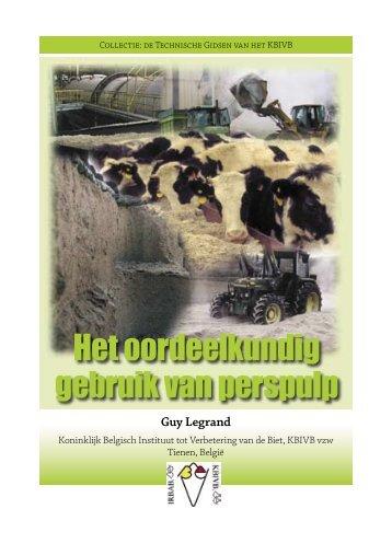 Het oordeelkundig gebruik van perspulp - Koninklijk Belgisch ...
