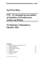 Jan Pries-Heje: UNI – Et eksempel på anvendelse af teknikker til ...