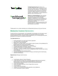 Medewerker Customer Service (m/v) - Langeveld Sleegers