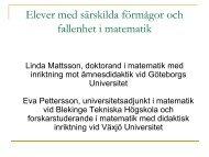 Elever med särskilda förmågor och fallenhet i matematik - Pedagog ...