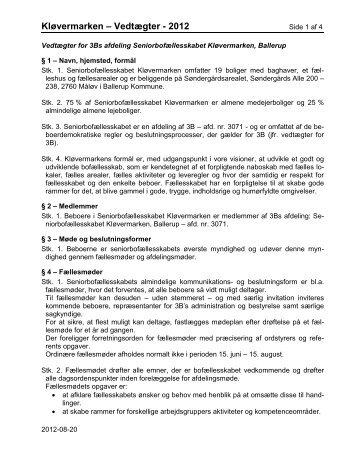 Vedtægter - Seniorbofællesskabet Kløvermarkens hjemmeside