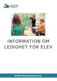 Info till föräldrar om ledighet.indd - Hammarö kommun