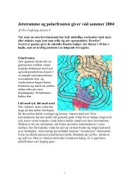 Jetstrømme og polarfronten giver våd sommer 2004