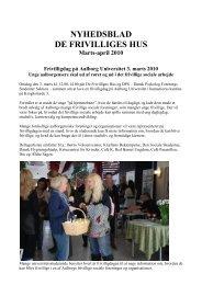 Hyhedsblad for marts / april 2010 (PDF) - De Frivilliges Hus