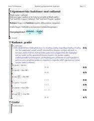 Trigonometriske funktioner med radiantal - Steen Toft Jørgensen
