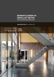 binnenvloeren in gepolijst beton (architectuur 3) - Febelcem