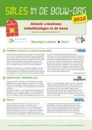 Actuele e-business ontwikkelingen in de bouw - S@les in de Bouw