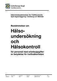 Hälsoundersökning och hälsotillstånd för personal med ... - Göteborg