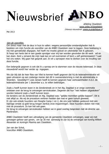 Nieuwsbrief mei 2013 - Anbo