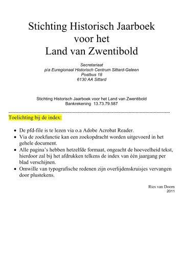 Stichting Historisch Jaarboek voor het Land van Zwentibold