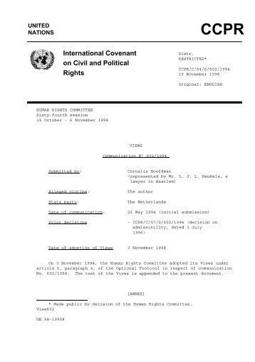 international covenant on civil and political rights pdf
