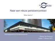 Presentatie Wouter van Eechoud - DNB - Pensioenfederatie