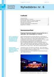 Nyhedsbrev nr. 6 - Gentofte Hospital