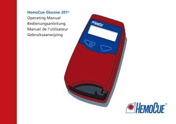 HemoCue Glucose 201+ Operating Manual Bedienungsanleitung ...