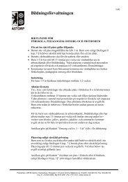 Riktlinjer för förskola och fritidshem - Åstorp