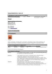 MSDS - Danske Unipol A/S