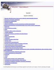 Koninklijke Bibliotheek van België : Belgische Bibliografie - mei 2011