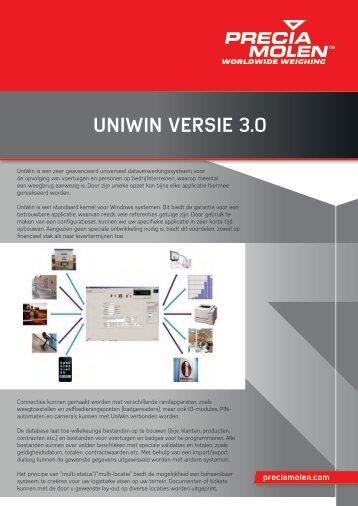 Brochure UniWin - Precia Molen