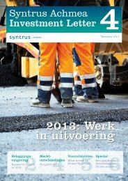 Investment Letter december 2012 - Syntrus Achmea
