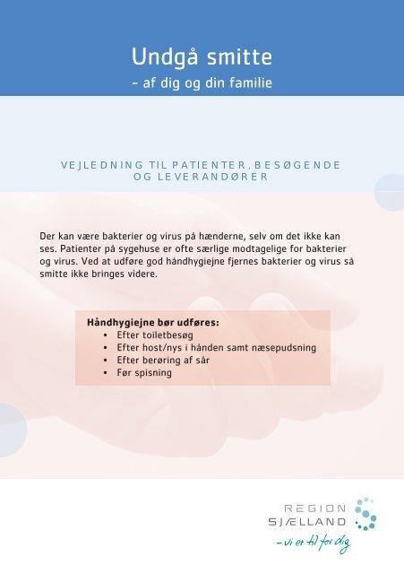 Undgå at smitte dig og din familie - Region Sjælland