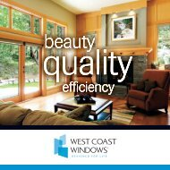 Pinnacle Collection Product Sheet - West Coast Windows