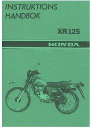 XR125 - Honda MC Svenska AB