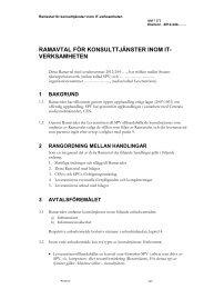 ramavtal för konsulttjänster inom it-verksamheten (pdf, nytt ... - SPV