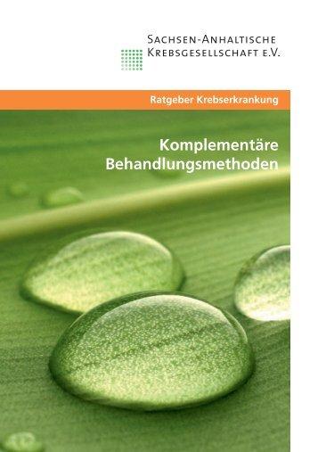 Komplementäre Behandlungsmethoden - Sachsen-Anhaltische ...
