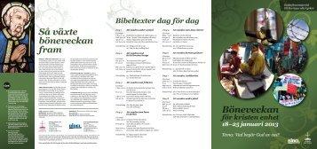 Broschyr Böneveckan 2013 (PDF) - Sveriges kristna råd