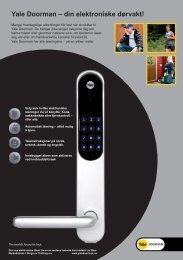 Yale Doorman – din elektroniske dørvakt! - Yale Norge