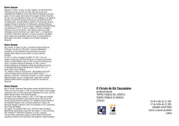 O Círculo de Giz Caucasiano - Companhia de Teatro de Almada